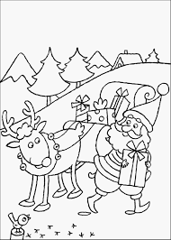 Santa Claus Reindeer Coloring Pages With And Free Christmas Happy