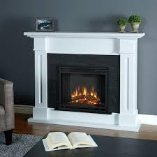 white fake fireplace best electric fireplaces images on throughout free standing with mantle prepare ana diy
