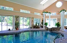 pool house interior. Pool House Interior Design With Cool Patio And Great Lighting | HomeLK.com