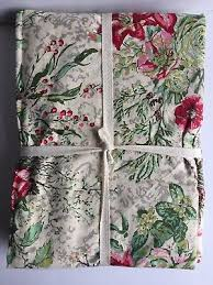 april cornell tablecloth french country farmhouse fl ivory gray pink green