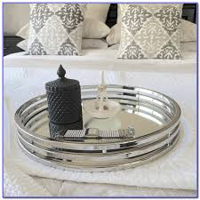round silver coffee table tray