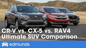 Suv Comparison Chart 2018 Honda Cr V Vs Mazda Cx 5 Vs Toyota Rav4 2019 Compact Suv Comparison Test