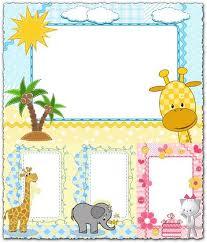 <b>Cartoon</b> frames with baby <b>animals</b> vectors | Baby photo frames ...