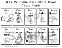 D I Y Crafts D I Y Printable Childrens Chore Chart System