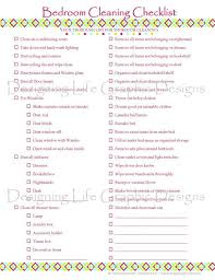 cleaning checklists bedroom house cleaning checklist designer printable pdf home