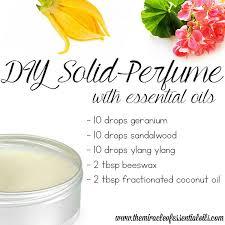 diy essential oil solid perfume