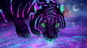 3D Wallpaper of Tiger