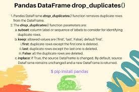 pandas drop duplicate rows