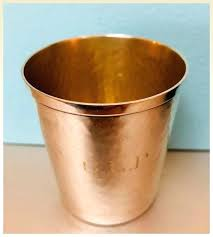 sterling silver double shot glass gold inside owned by a treasures and jewels ruby lane display