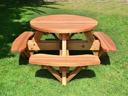 round picnic table plan inspiration gallery from make a wood picnic table plans
