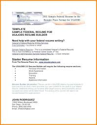 Usajobs Resume Builder Enchanting Usajobs Federal Resume Top Rated Resume Template Federal Resume