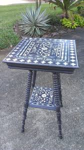 cutting edge furniture. we have a table just like this in store you can refinish it wood covered with the indian inlay stencil from cutting edge stencils and faux furniture