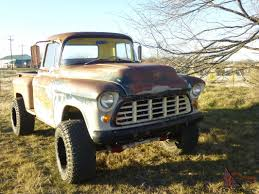 1955 Chevrolet mounted atop a 1971 3/4 ton frame cut down 13. 5 ...