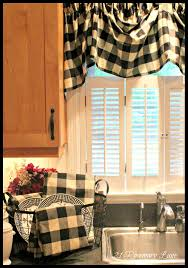 Plaid Kitchen Curtains Valances A Few New Items For My Kitchen Black And White Buffalo Check