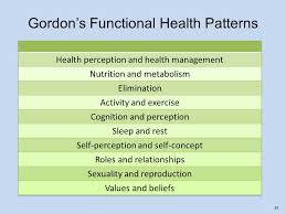 Gordon S Functional Health Patterns Chart Chapter 6 Assessment Assessment Is The First Step In The
