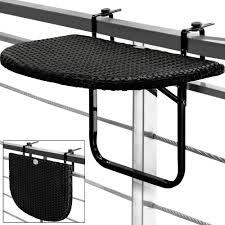 Balcony Hanging Table Space Saving Folding Height Adjustable Black