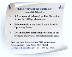 ehs virtual roundtable a free and open discussion forum for ehs professionals