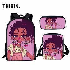 <b>THIKIN</b> Afro Black Girl Magic Melanin Poppin <b>3pcs</b>/<b>set</b> Children ...