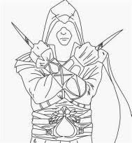 201 Pingl 233 Par Nathalie Monio Sur Coloriage Assassin S Creed