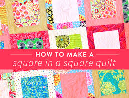 Simple Square Quilt Patterns Mesmerizing How To Make A Simple Square In A Square Quilt Block Suzy Quilts