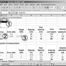 Screenshot Of A Spacing Calculator Available For Download