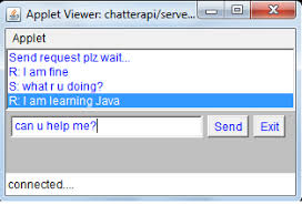 java guru simple chat application using applet conversation