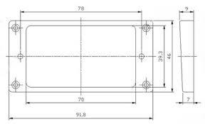 2pcs black humbucker pickup ring curved base bottom frame for Humbucker Mounting Diagram Humbucker Mounting Diagram #47 Seymour Duncan Humbucker Wiring Diagrams
