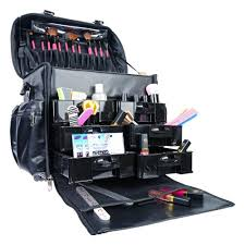 amazon shany makeup artist soft rolling trolley cosmetic case with free set of mesh bags head turner makeup bags and cases beauty