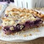 blueberry sour cream pie  easy