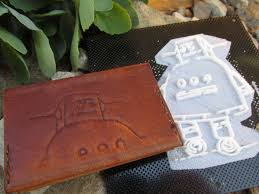 picture of how to design print and use 3d printed leather stamps