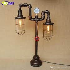 loft industrial iron cage. Fumat-iron-cage-water-pipe-table-lamps-nordic.jpg Loft Industrial Iron Cage