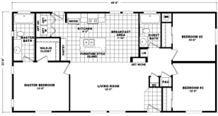 double wide mobile home floor plans. Simple Plans Cottondale  3 Beds  2 Baths 1136 SqFt 24 X 48 Double Wide Economy  Priced Homes With Mobile Home Floor Plans