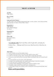 Night Auditor Resume Bio Resume Samples