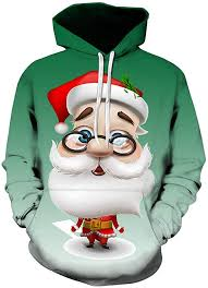 Mens <b>3D</b> Printed Christmas Pullover Xmas <b>Tree</b> Print Long Sleeve ...