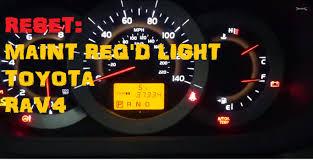Toyota Maintenance Light Toyota Rav4 Maintenance Required Light Reset Youtuber