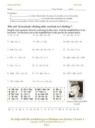 adding and subtracting like terms worksheet free worksheets combining like terms with exponents worksheet