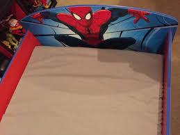 spider man toddler bed frame and mattress