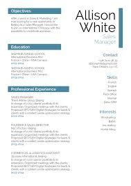 Resume Format Eloquent Resume Mycvfactory
