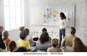 trendy office. business presentation in a trendy office