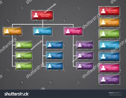 Colorful Rectangle Organization Chart Infographics People