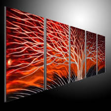 sculpture wall red tree metal painting original abstract wall art abstract wall art australia