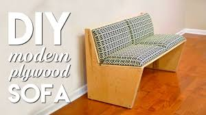 modern 1 furniture. DIY Modern Sofa | How To Build With 1 Sheet Of Plywood - Woodworking Furniture