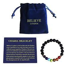 Believe London Chakra Bracelet With Jewellery Bag And