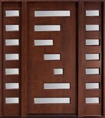 modern door texture. Mahogany Solid Wood Front Entry Door - Single With 2 Sidelites Modern Texture N