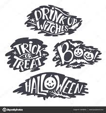 Calligraphy Backgrounds Happy Halloween Calligraphy Backgrounds Vector Banner Signs