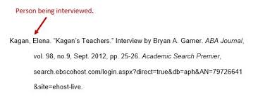 Interviews Mla 8th Ed Style Guide Research Guides At Wake