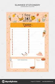 Cute Lists Set Weekly Planners Lists Cute Summer Illustrations Trendy
