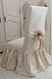 love the chair cover shabby chic