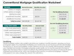4 Mortgage Qualification Worksheet Templates Word Templates