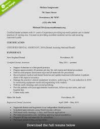 Gallery Of Dental Assistant Resume Examples